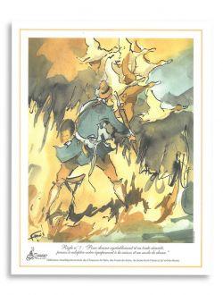 Dessin chasse Règle n°7 d'Antoine Faure