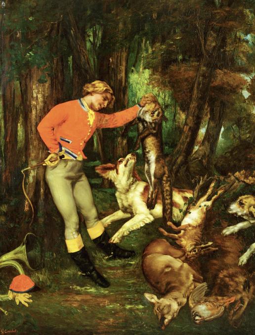 """Gustave Courbet """"Retour de chasse"""""""