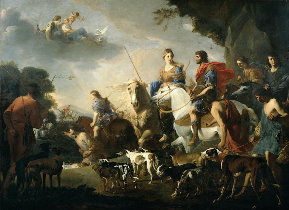 Jan Miel (1599-1663) La chasse royale de Didon et Enée